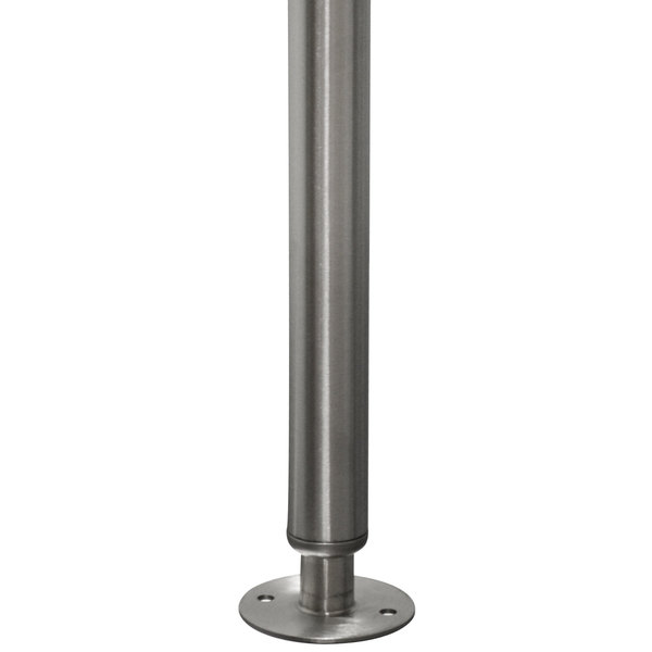 Advance Tabco TA Flanged Stainless Steel Foot For Work Tables - 4 foot stainless steel table