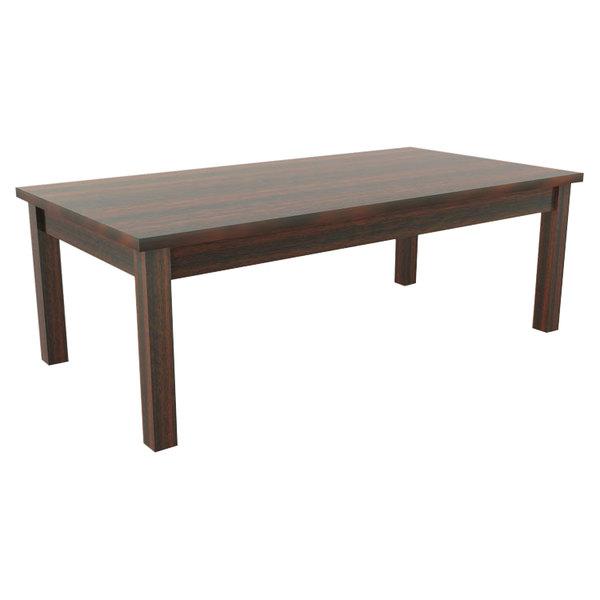 """Alera ALEVA7548MY Valencia 47 1/4"""" x 20"""" Mahogany Occasional Table"""