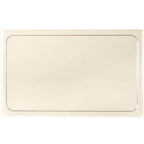 Cambro 10HPC150 H-Pan™ Full Size Amber High Heat Flat Lid Main Image 1