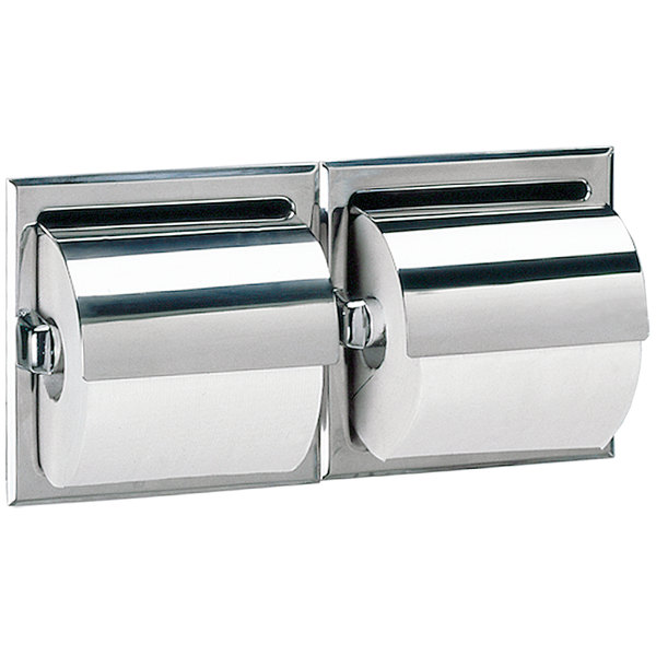 B699 Recessed Double Toilet Tissue Dispenser with Stainless Steel