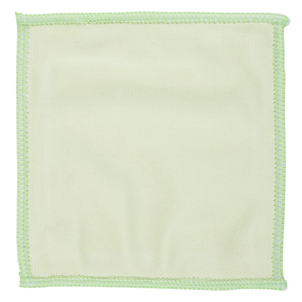 """Unger MF10L MicroWipe Mini 4"""" x 4"""" Green Microfiber Glass Cleaning Cloth - 10/Pack"""
