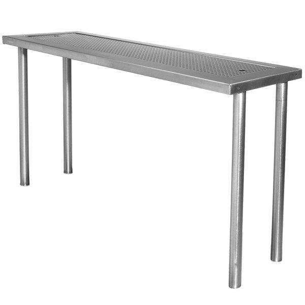 "Advance Tabco PRSO-44-G 44"" Single Overshelf with Glass Rack"