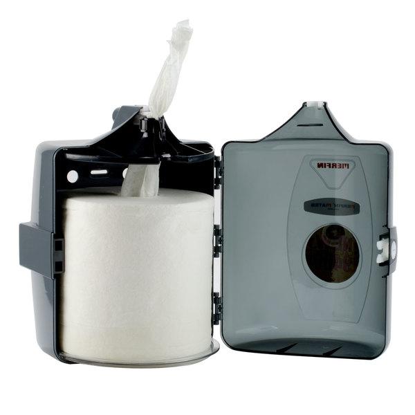 Merfin Mates Pre-Moistened Sanitizing Antimicrobial Hand Wipe for Center Pull Dispenser - 900/Case