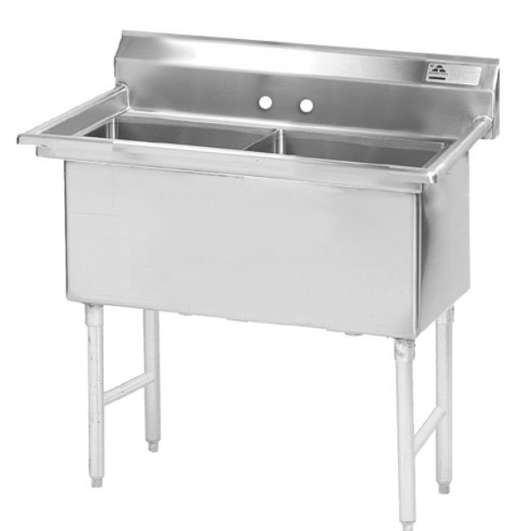 Advance Tabco FS-2-1620 Spec Line Fabricated Two Compartment Pot Sink - 37""