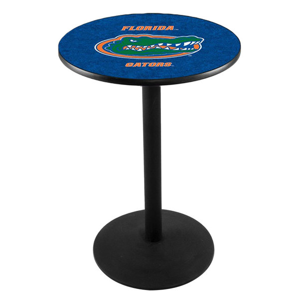 "Holland Bar Stool L214B36FLORUN 28"" Round University of Florida Pub Table with Round Base"