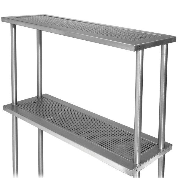 "Advance Tabco PRDO-44-G 44"" Double Overshelf with Glass Rack"