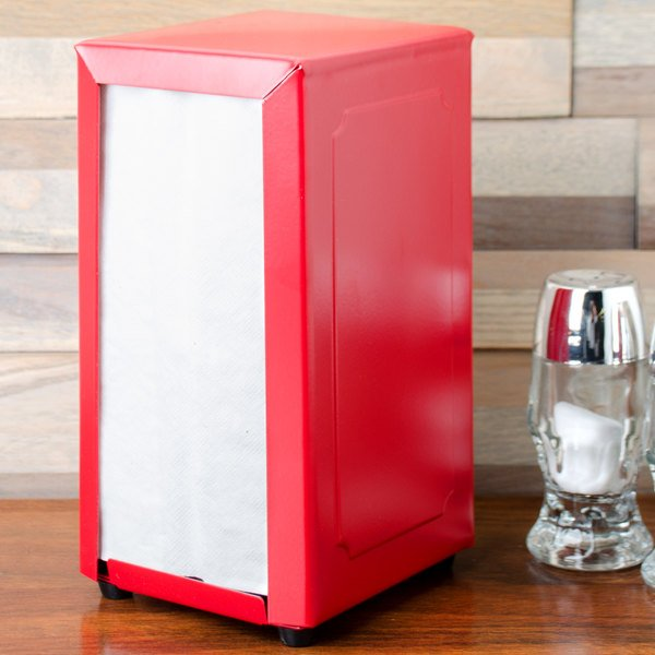 Tablecraft 2211 Tallfold Napkin Dispenser- Red