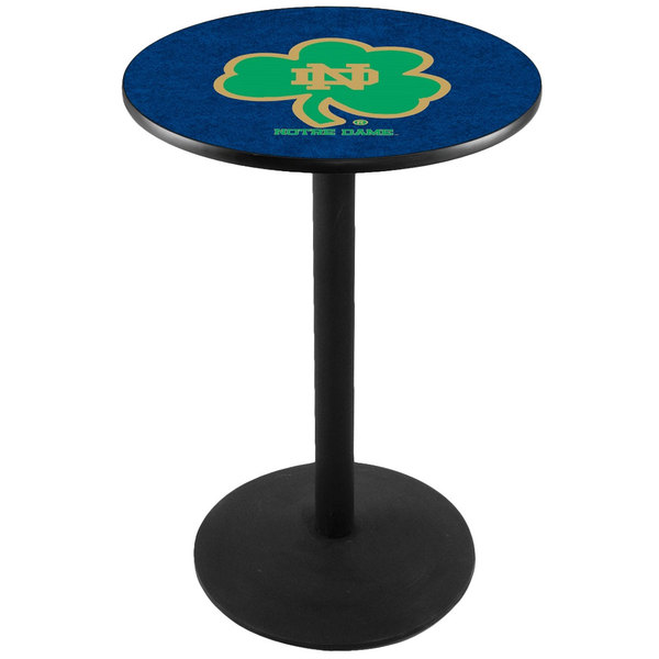 "Holland Bar Stool L214B3628ND-SHM 28"" Round University of Notre Dame Pub Table Main Image 1"
