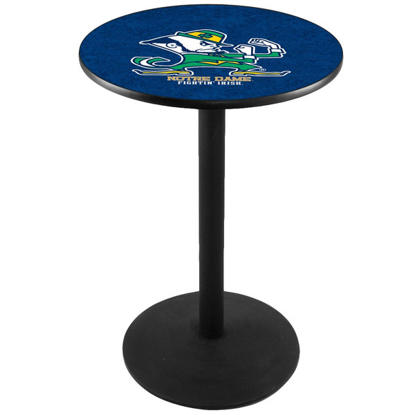 "Holland Bar Stool L214B3628ND-LEP 28"" Round University of Notre Dame Pub Table Main Image 1"