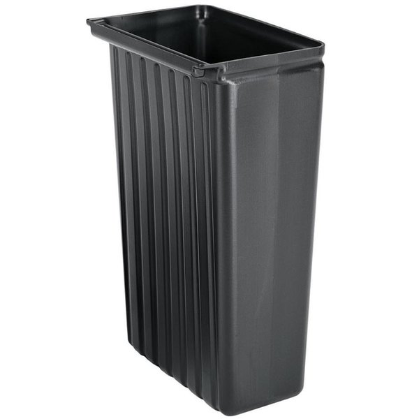 Cambro BC331KDTC110 8 Gallon Black Trash Container Main Image 1