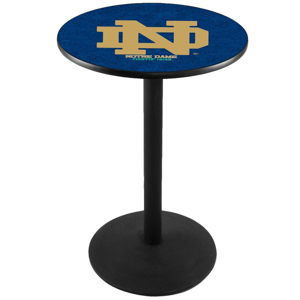 "Holland Bar Stool L214B3628ND-ND 28"" Round University of Notre Dame Pub Table"