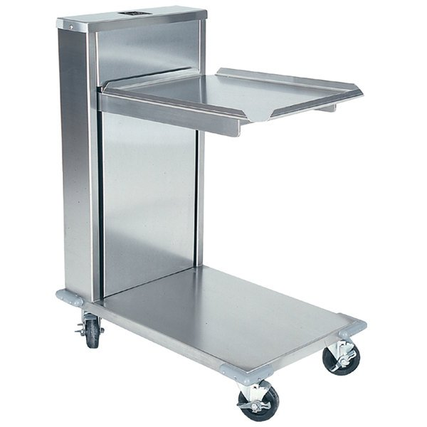 "Delfield CT-1216 Mobile Cantilevered Tray Dispenser for 12"" x 16"" Food Trays"