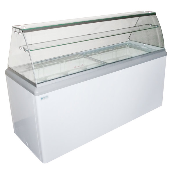 "Excellence HBG-12 70 3/4"" 12 Pan Gelato Dipping Cabinet"