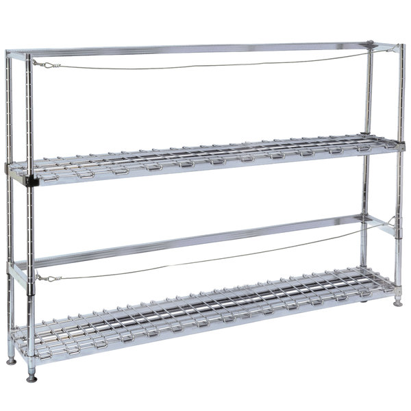"Metro 2KR345DC Four Keg Rack with Two Dunnage Racks - 42"" x 18"" x 56 1/8"""