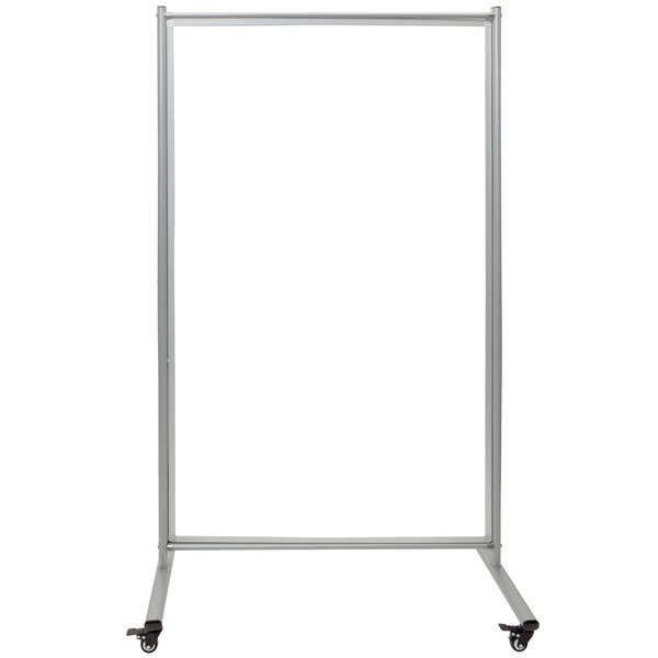 """Luxor MD4072W 38 1/2"""" x 64"""" Mobile Whiteboard Room Divider with Steel Frame"""