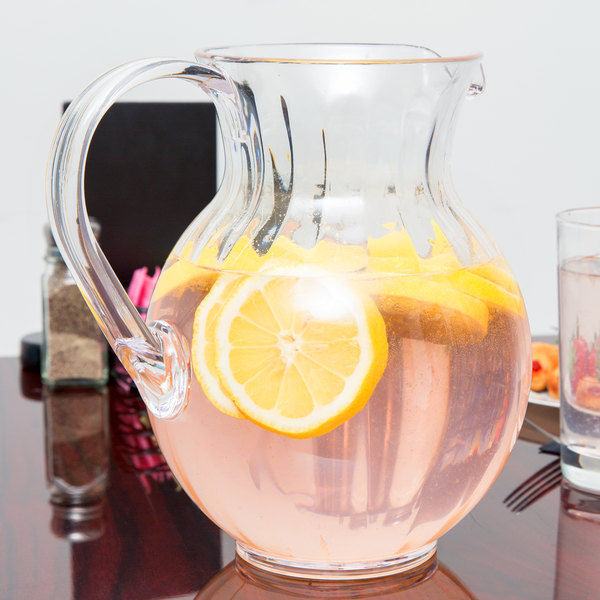 GET P-4090 Clear 90 oz. Tahiti Pitcher - 12/Pack
