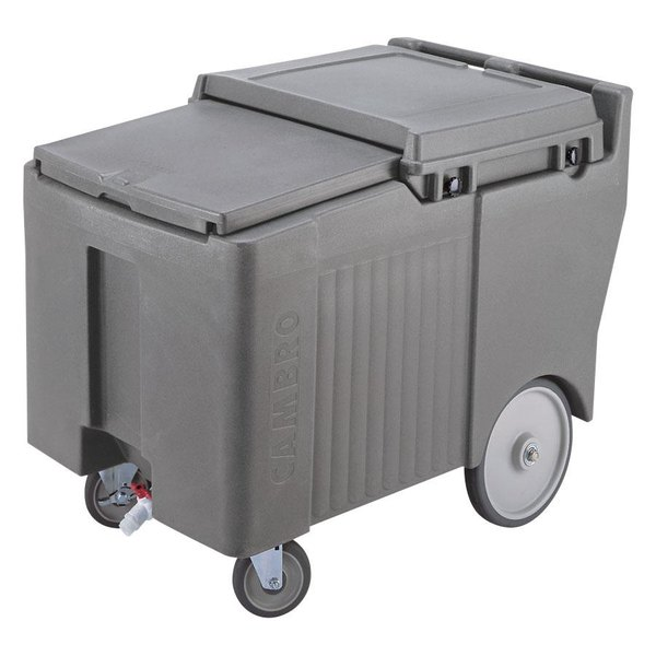 Cambro ICS175LB191 SlidingLid™ Granite Gray Portable Ice Bin - 175 lb. Capacity