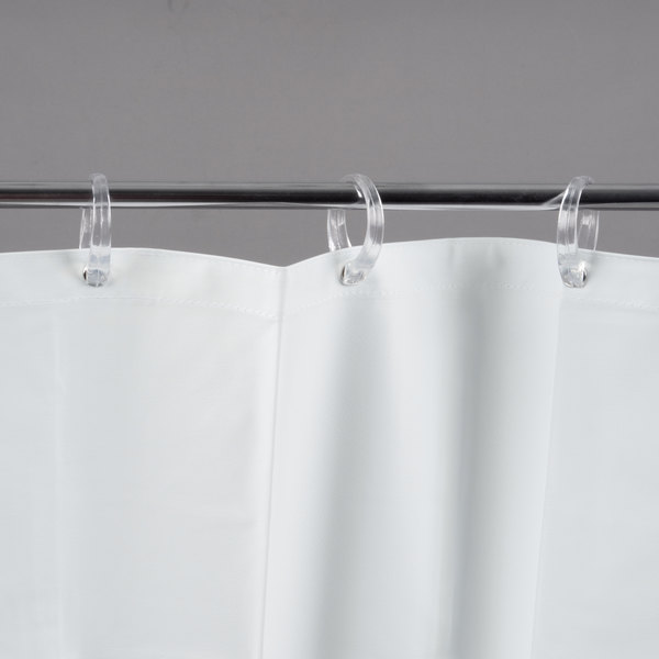 Bobrick 204 2 White Vinyl Shower Curtain
