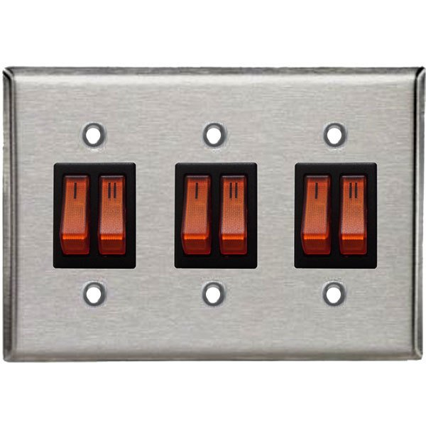 Metal remote control with three zones