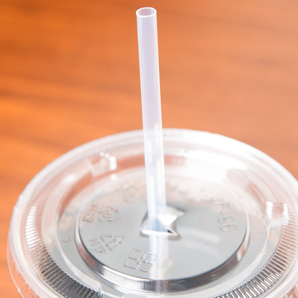 "Eco-Products EP-ST710 7 3/4"" Jumbo Clear Renewable and Compostable Unwrapped Straw - 9600/Case"