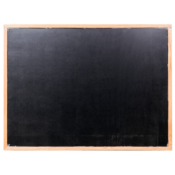 """Aarco BOC3648NT-B OAK 36"""" x 48"""" Oak Frame Black Marker Board Main Image 1"""