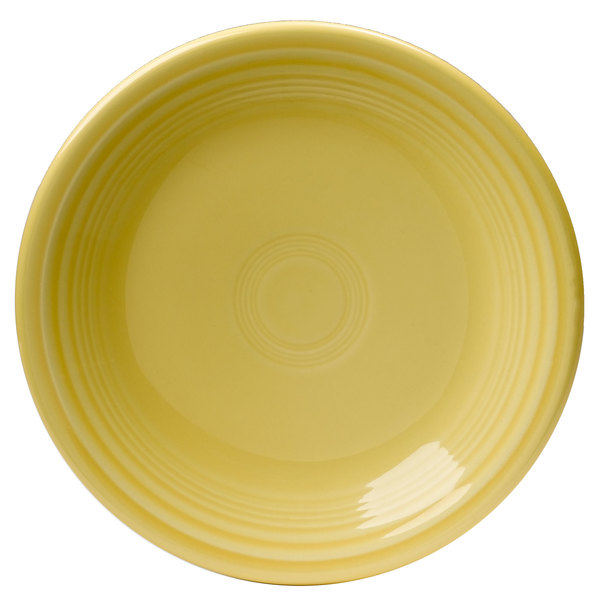 "Homer Laughlin HL464320 Fiesta Sunflower 7 1/4"" China Salad Plate - 12/Case Main Image 1"