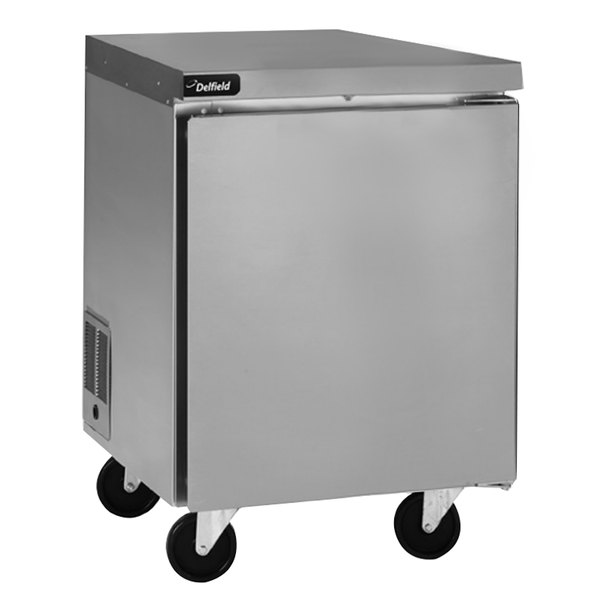 """Delfield GUR27P-S 27"""" Undercounter Refrigerator with 3"""" Casters"""