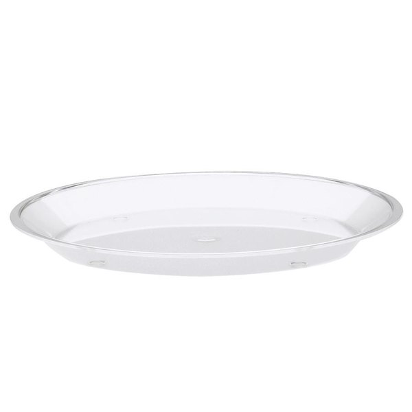 """Cal-Mil 315-15-12 Clear Turn N Serve Shallow Tray for 15"""" Cal-Mil Sample Dome Covers"""