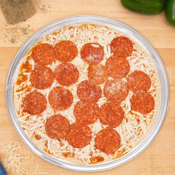 """D&W Fine Pack 19120 13"""" Foil Pizza Pan - 25/Pack"""