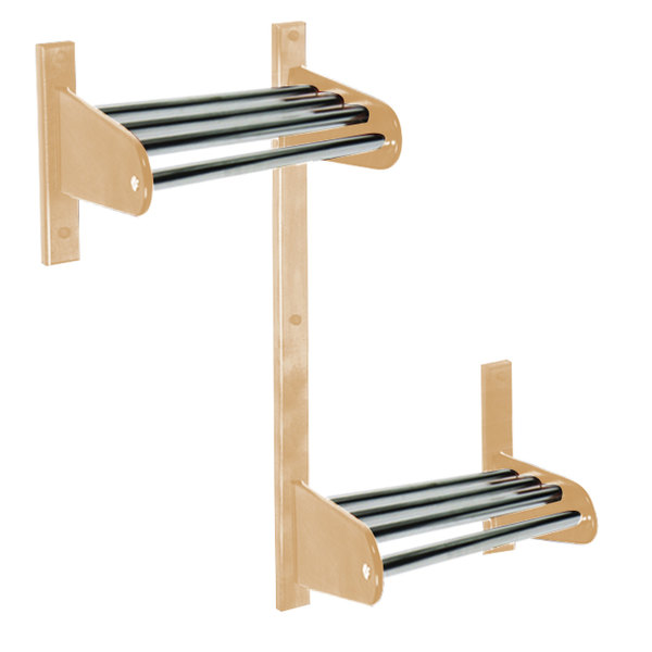 "CSL TFXADA-36-L 36"" ADA Series Light Oak Wall Mount Coat Rack with Zinc Top Bars and 1"" Hanging Rod"