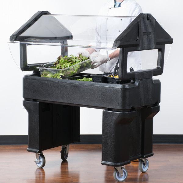 "Carlisle 660503 Black 4' ""Six Star"" Open Base Portable Food / Salad Bar"