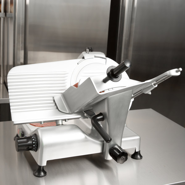 "Globe G12 12"" Manual Gravity Feed Slicer - 1/2 hp Main Image 6"