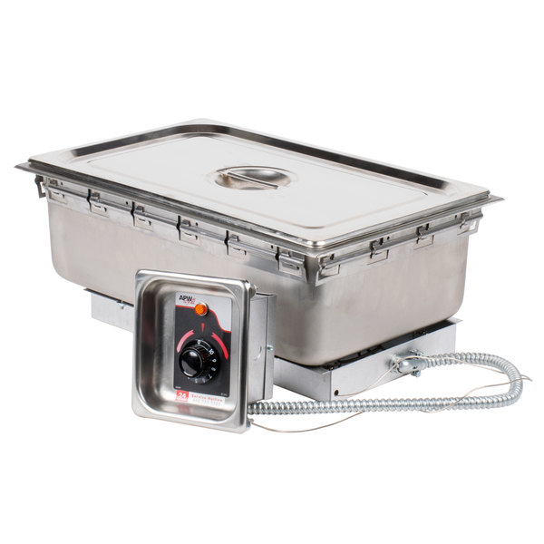 APW Wyott TM-90D UL High Performance Uninsulated One Pan Drop In Hot Food Well with Drain and UL Electrical Kit - 120V Out of Original Packaging