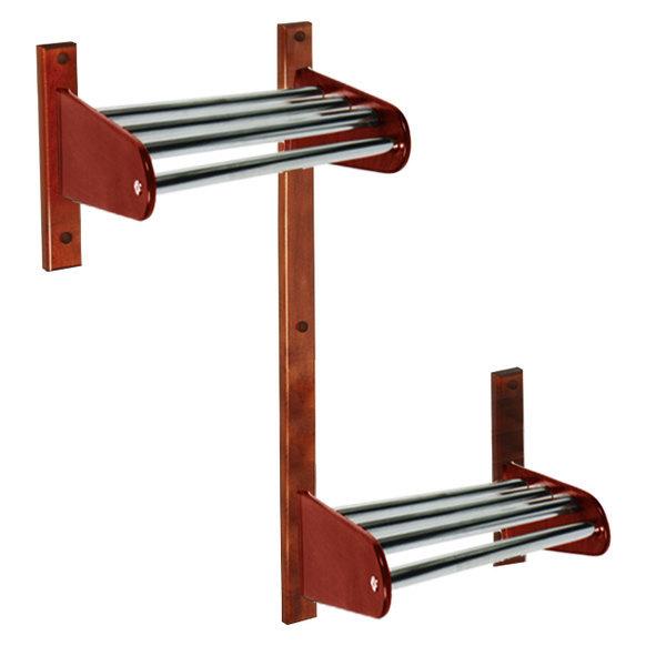 "CSL TFXADA-36-CM 36"" ADA Series Cherry Mahogany Wall Mount Coat Rack with Zinc Top Bars and 1"" Hanging Rod"