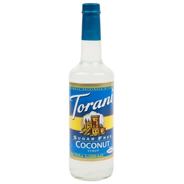 Torani 750 mL Sugar Free Coconut Flavoring Syrup