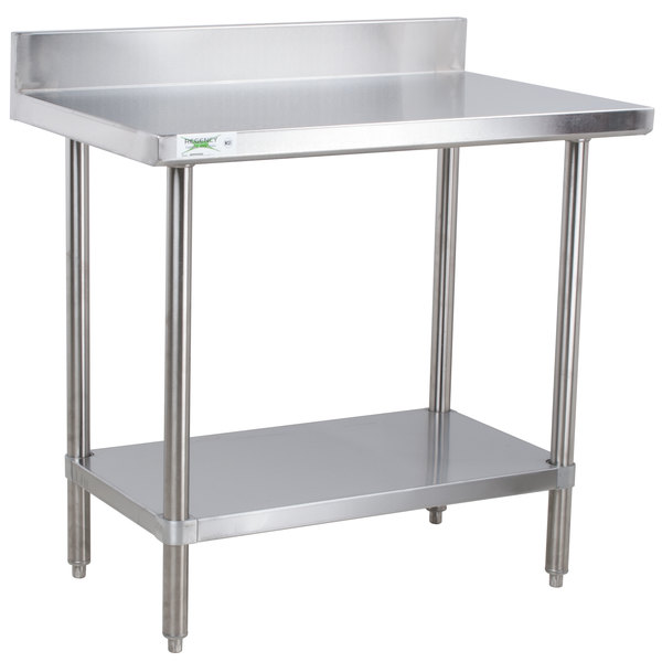 Regency X Gauge Stainless Steel Commercial Work Table - 16 gauge stainless steel table