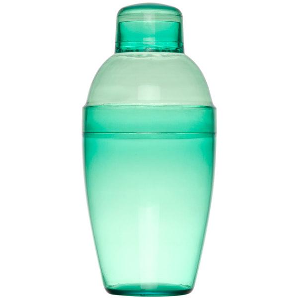 Fineline Quenchers 4102-GRN 10 oz. Green Plastic Shaker - 24/Case