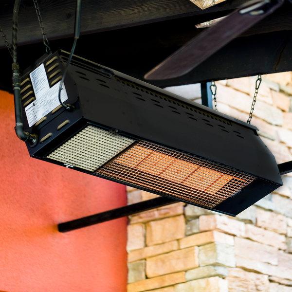 Schwank MO-2150-LP Liquid Propane Black Outdoor Patio Heater - 50,000 BTU