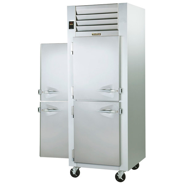 Traulsen G14305P 1 Section Pass-Through Half Door Hot Food Holding Cabinet with Left / Right Hinged Doors