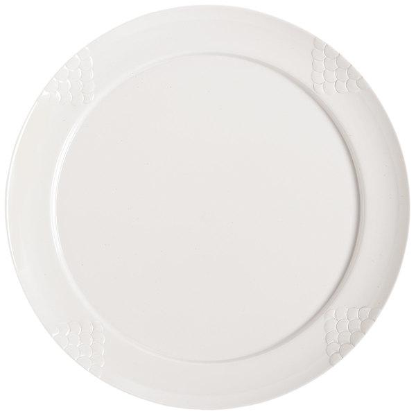 "GET RP-18-WH 18"" White Sonoma Melamine Plate - 6/Case Main Image 1"