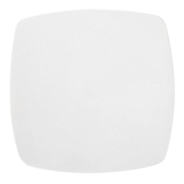 "CAC RCN-FS6 Bright White Clinton Flat Plate 6 7/8"" Square - 36/Case Main Image 1"