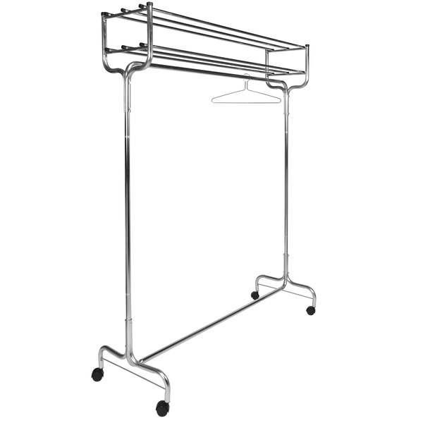 """CSL 1074-48P 48"""" Portable Valet Double Hat Rack Coat Rack with Casters and Perma Hangers"""