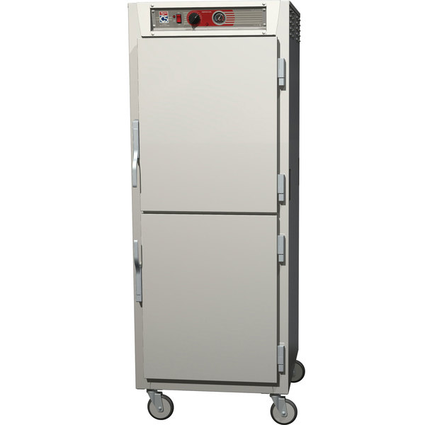 Metro C569-SDS-UPDC C5 6 Series Full Height Reach-In Pass-Through Heated Holding Cabinet - Solid / Clear Dutch Doors