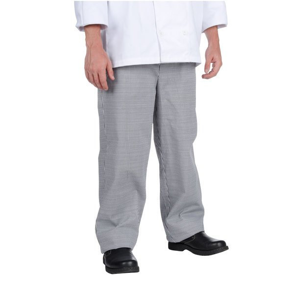 Chef Revival Men's Houndstooth Baggy Cook Pants - Large Main Image 1