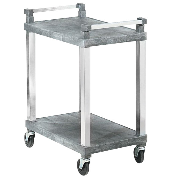 Vollrath 97101 2 Shelf Utility Cart with Chrome Uprights - 200 lb. Capacity Main Image 1