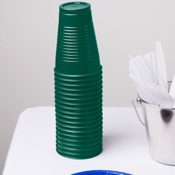 Dart Solo PS12G 12 oz. Green Plastic Cup - 1000/Case