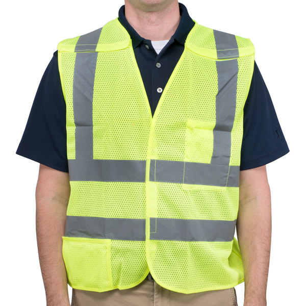 Lime Class 2 High Visibility 5 Point Breakaway Safety Vest - XXL