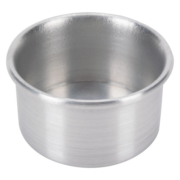 3 inch x 2 inch Aluminum Mini Cheesecake Pan with Removable Bottom