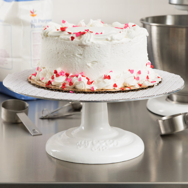 """Ateco 612 12"""" Revolving Cake Stand with Cast Iron Base and Aluminum Top"""