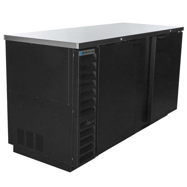 "Beverage-Air BB68HC-1-B 69"" Back Bar Refrigerator with 2 Solid Doors 115V Main Image 1"